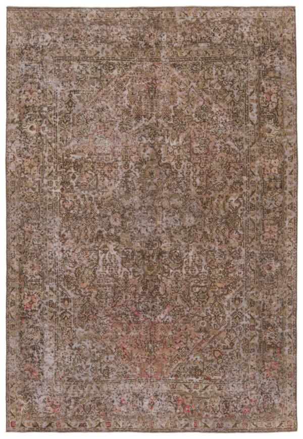 Vintage Relief Rug Brown 286 x 195 cm