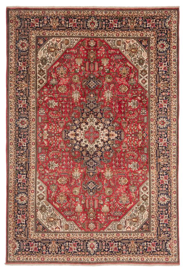 Tabriz Persian Rug Red 293 x 200 cm