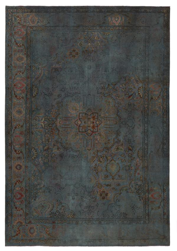 Vintage Relief Rug Blue 292 x 198 cm