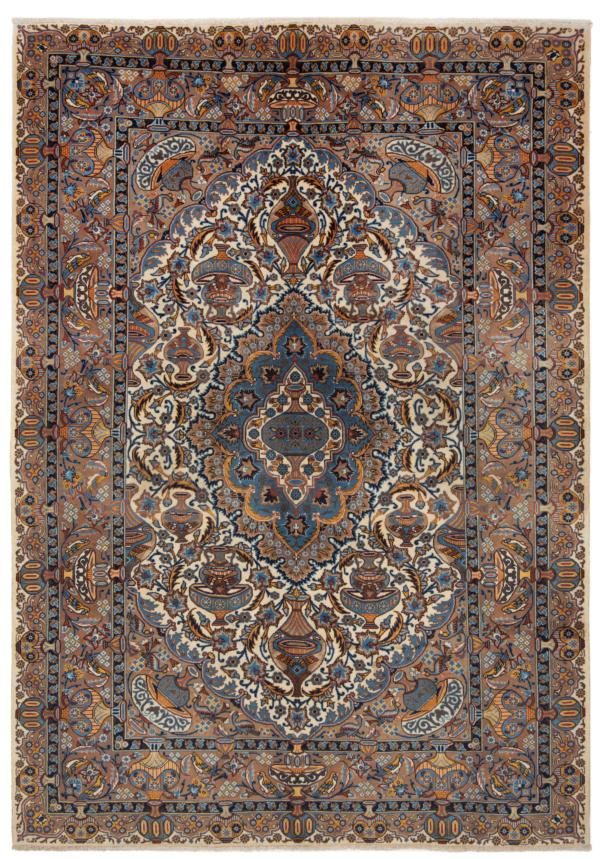 Kashmar Persian Rug Beige-Cream 285 x 205 cm