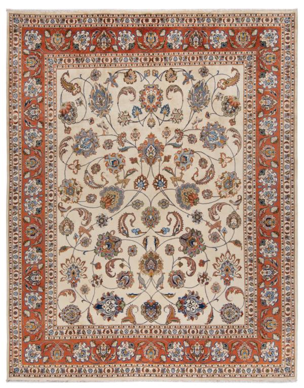 Kashmar Persian Rug Beige-Cream 373 x 292 cm