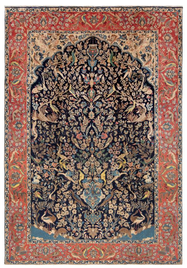 Kashan Persian Rug Night Blue 298 x 205 cm
