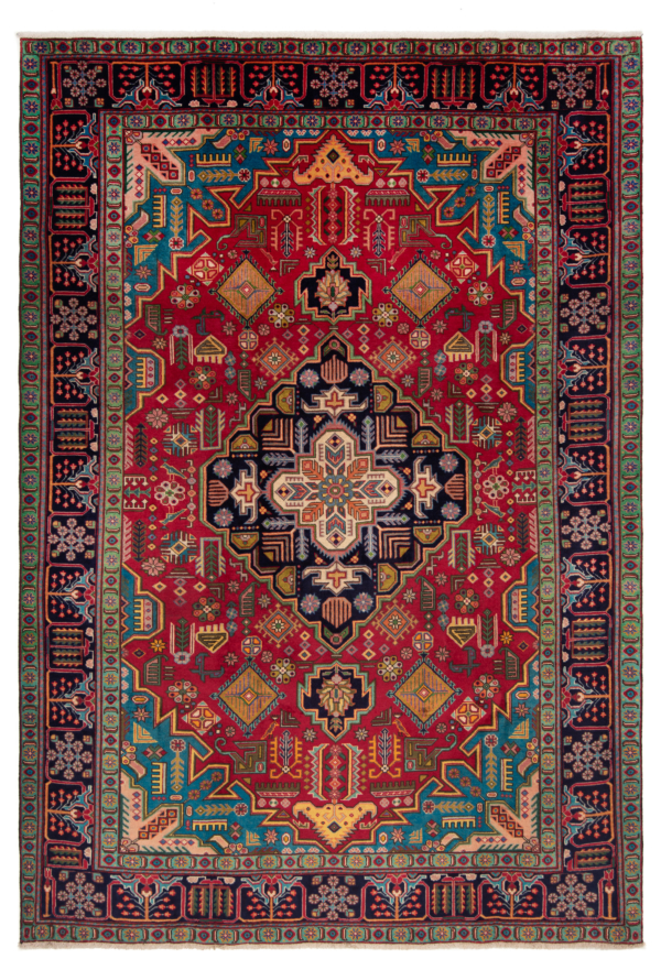Tabriz Persian Rug Red 302 x 209 cm