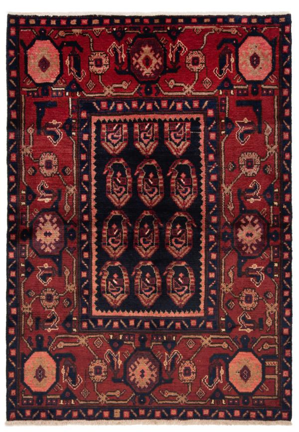 Hamedan Persian Rug Black 155 x 110 cm