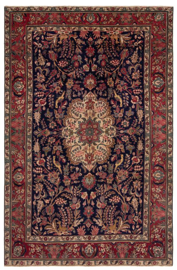 Sarough Patina Persian Rug Night Blue 372 x 262 cm