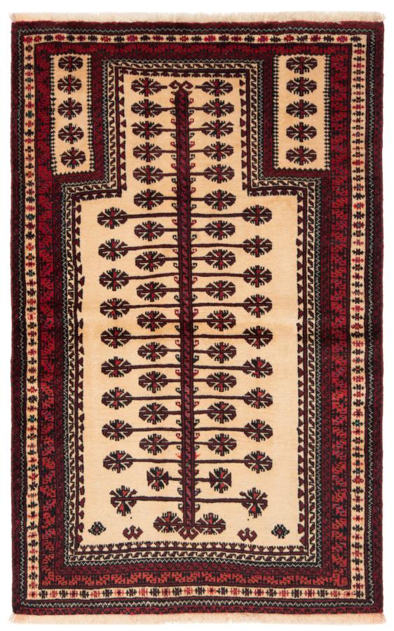 Balouch Persian Rug Beige-Cream 143 x 90 cm