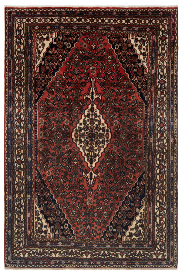Hamedan Persian Rug Red 312 x 210 cm