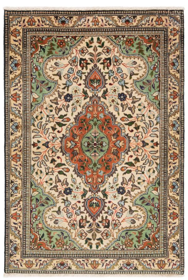 Tabriz Tabatabai Persian Rug Beige-Cream 142 x 100 cm