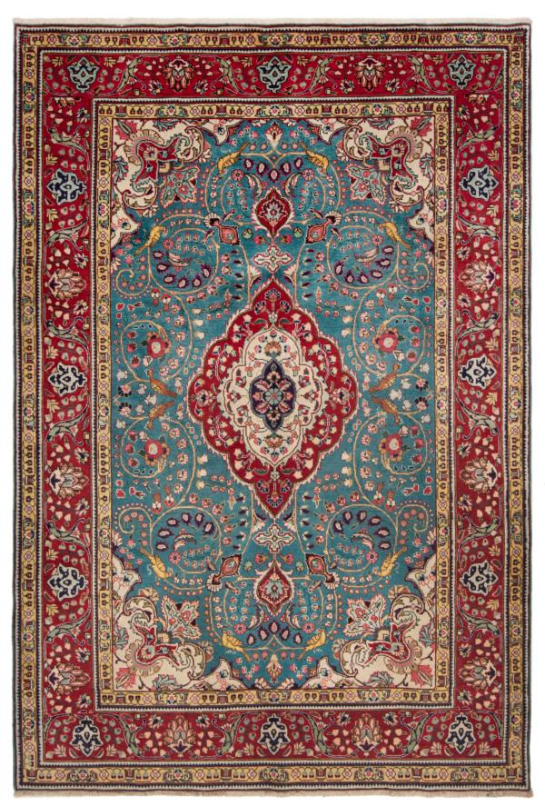 Tabriz Persian Rug Turquoise 292 x 200 cm