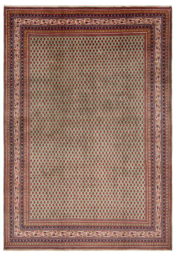 Sarough mir Persian Rug Green 305 x 215 cm