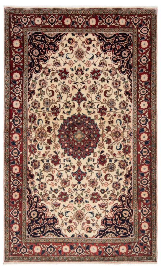Sarough Persian Rug Beige-Cream 205 x 132 cm