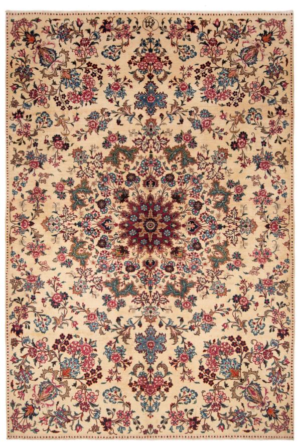 Mashhad Persian Dug Beige-Cream 297 x 200 cm