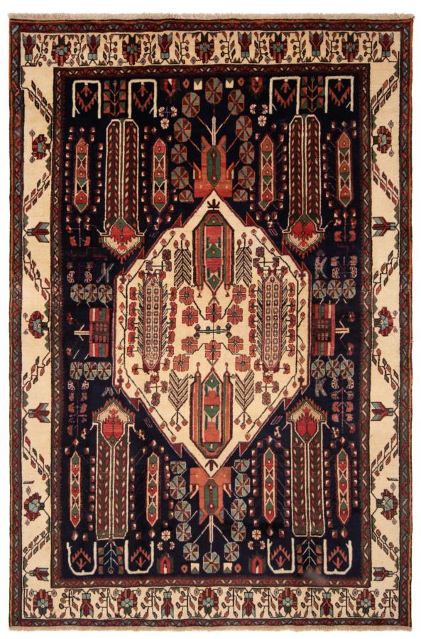 Sirjan Afshar Persian Rug Night Blue 283 x 190 cm
