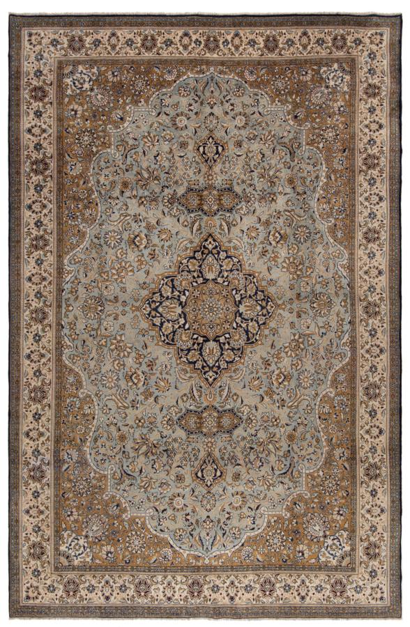 Qom Persian Rug Gray 455 x 300 cm