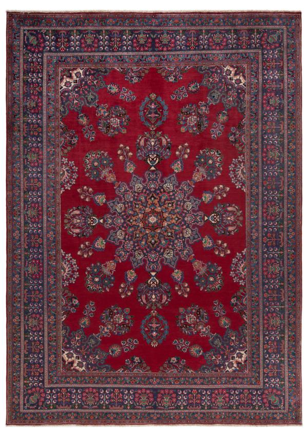 Mashhad Persian Rug Red 340 x 243 cm