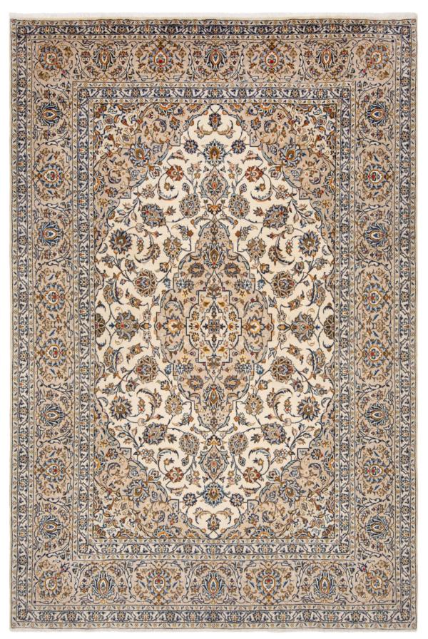Kashan Persian Rug White 300 x 198 cm
