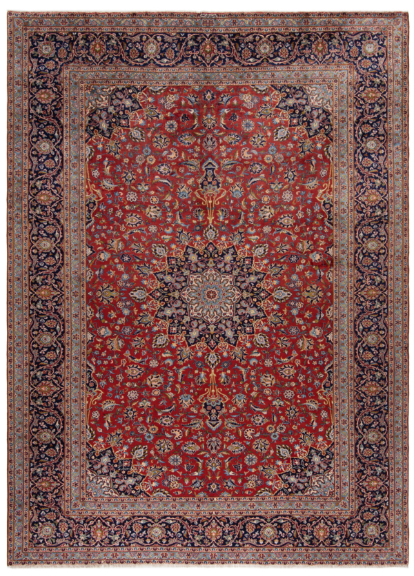 Kashan Khorshid Persian Rug Red 400 x 295 cm
