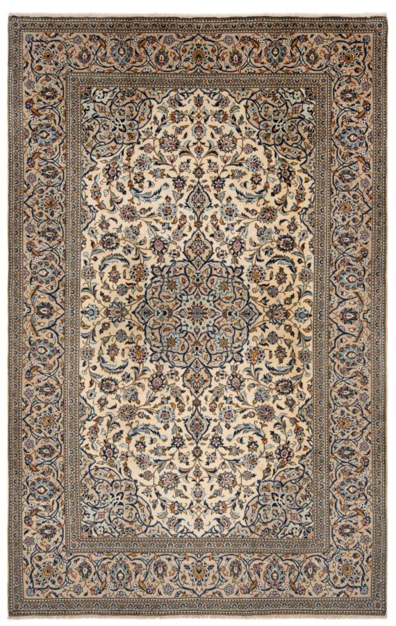 Kashan Persian Rug Beige-Cream 307 x 196 cm