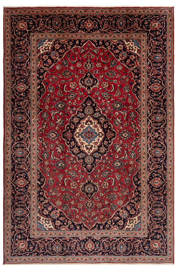 Kashan Persian Rug Red 296 x 197 cm