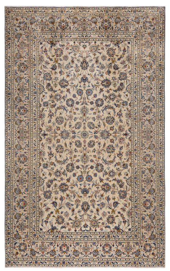 Kashan Persian Rug White 332 x 205 cm