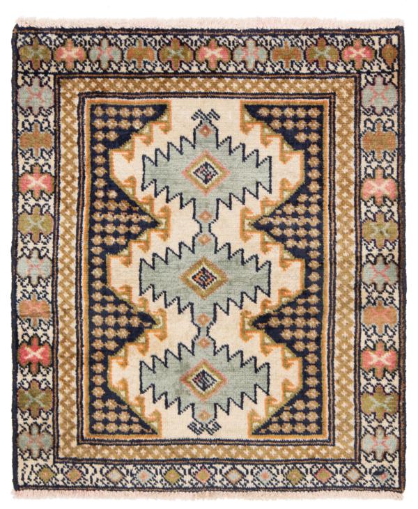 Balouch Persian Rug Beige-Cream 77 x 65 cm