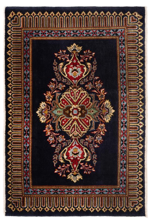 Kashan Persian Rug Night Blue 105 x 70 cm