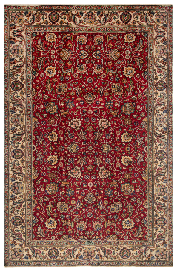 Tabriz Persian Rug Red 285 x 190 cm
