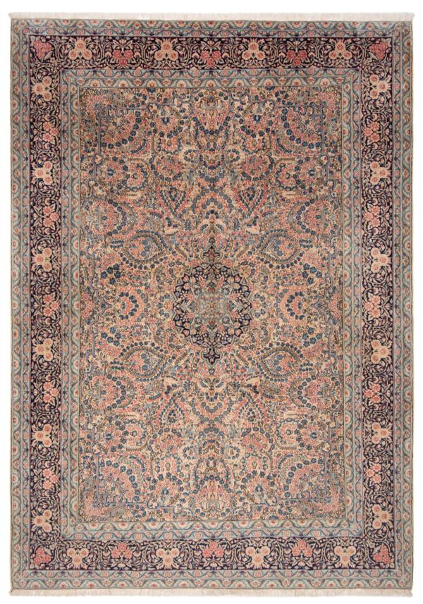 kerman Persian Rug Beige-Cream 287 x 205 cm