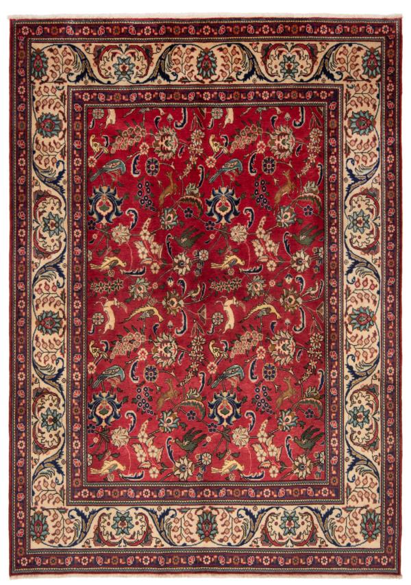Tabriz Persian Zug Red 285 x 202 cm