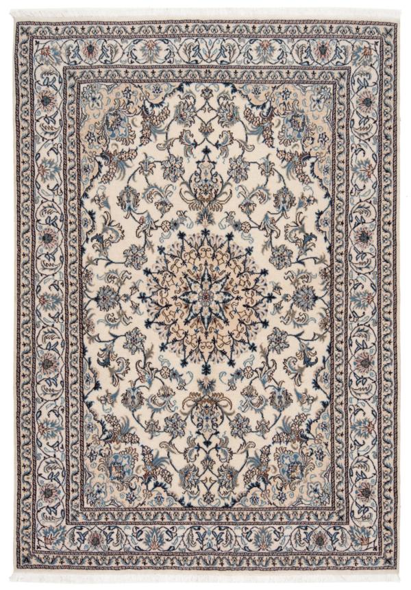 Nain Persian Rug White 246 x 170 cm