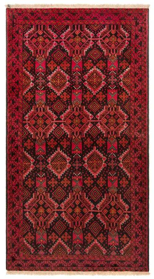 Balouch Pakistan Rug Black 195 x 110 cm