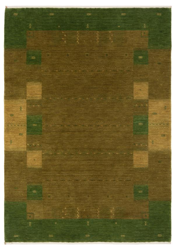 Handloom Rug Green 204 x 144 cm