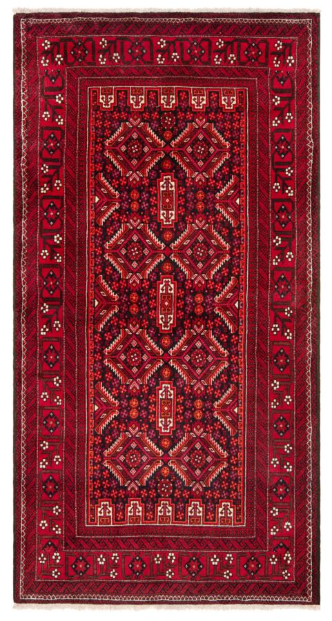 Balouch Pakistan Rug Red 200 x 104 cm