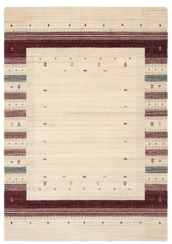 Handloom Rug Beige-Cream 205 x 144 cm